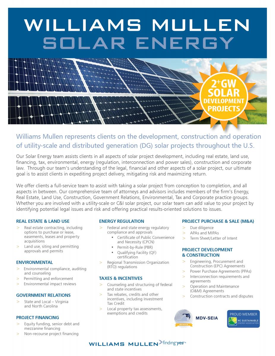 Solar Energy | Williams Mullen